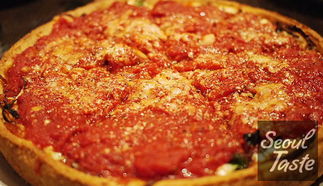 Deep Dish Pizza at Little Star