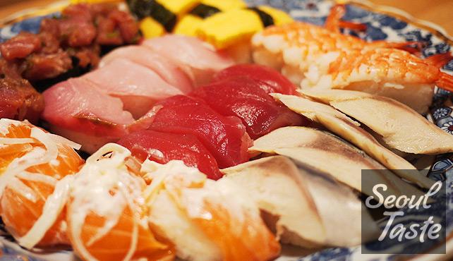 Sushi platter - Kuru Kuru Sushi